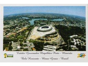 Pohlednice stadión, Estadio Governador Magalhes Pinta Mineiro, Brasil OG 2014 (1)