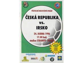 Program fotbal , ČR v. Irsko, 1996