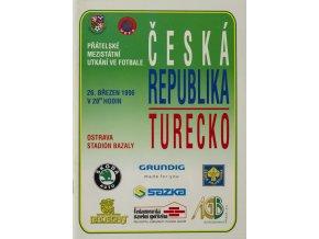 Program fotbal , ČR v. Turecko, 1996