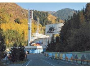 Pohlednice stadión, Medeo, Almaty (1)