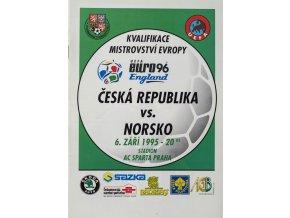 Program fotbal , ČR v. Norsko, 1995