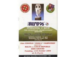 Program fotbal , Malta v. Czech republic, 1994