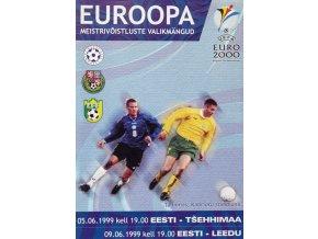 Program fotbal , Eesti v. Tšehhimaa, 1999