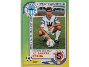 Fotbalový bulletin Liberec vs. Sparta Praha, 1995