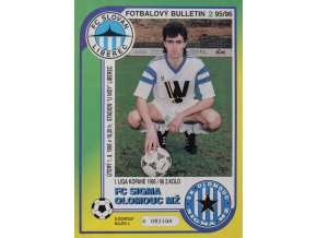 Fotbalový bulletin Liberec vs. Sigma Olomouc, 1995