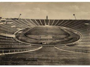 Pohlednice stadión, Leipzig, 1956 (1)