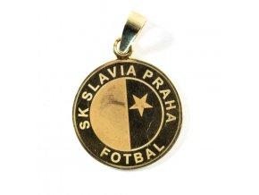 Přívěsek SK Slavia Praha, zlatý (2)