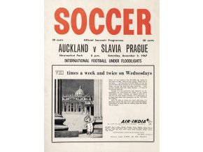 Program Soccer, Aucland v. Slavia Prague, 1967 (1)