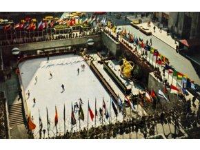 Pohlednice stadión, Rockefeller plaza skating ring (1)
