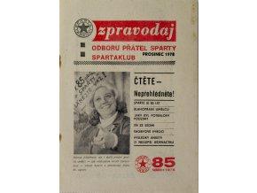Zpravodaj Odboru přátel Sparty, 2 ks, 1977, 1978 (3)