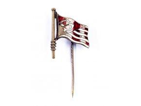 Odznak Slavia, prapor, smalt (1)