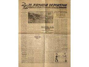 Noviny La Jornada Deportiva, Slavia v. Barcelona, 1923 (1)