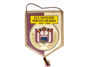 Klubová vlajka RSC Anderlecht Kampionen van Belgie, 19651966