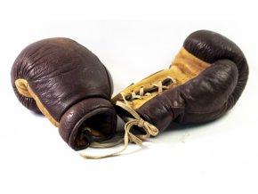 Boxerské rukavice, kožené