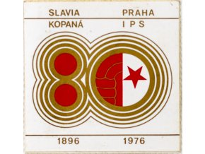 Samolepka, 80, Slavia Praha IPS, kopaná, 1896 1976