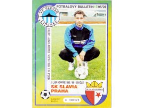 Fotbalový bulletin Liberec vs. Slavia Praha, 1995