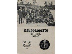 Program ročenka, Kauppaopisto, Ice hockey, 1980 81 (1)