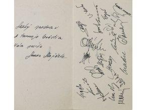 Pozdrav z Izvjestia 1989, podpisy hokejistů ČSSR (2)