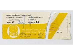 Vstupenka, MS hokej Praha, ČSSR v. Kanada, 1985 (3)