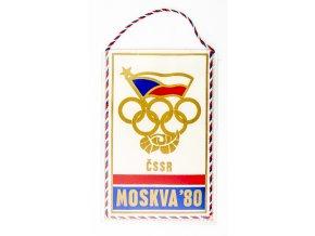 Vlajka OH 1980, Moskva, ČSSR (1) 1