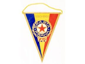 Klubová vlajka SPARTA PRAHA , 75 let, 1968 (2)