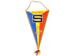 Klubová vlajka SPARTA PRAHA , odbor přátel, 15 let, 1981