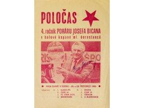 POLOČAS Zvláštní vydání, 4. ročník poháru Josefa Bicana, Autogram, 1986