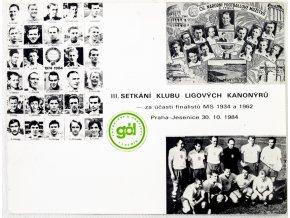 Tiskovina, III. setkání klubu ligových kanonýrů, 1984