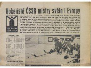 Noviny Československý sport, speciál MS Hokej, Vídeň 1976