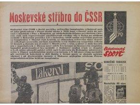 Noviny Československý sport, speciál MS Hokej, Moskva 1979