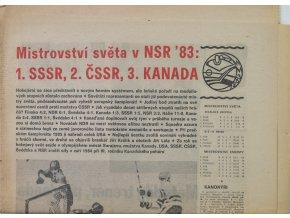 Noviny Československý sport, speciál MS Hokej,NSR 1983