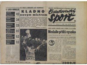 Noviny Československý sport, Kladno novým mistrem, 1980
