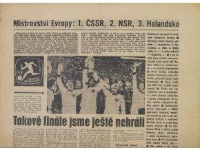 Noviny Československý sport, speciál fotbal, ME 1976