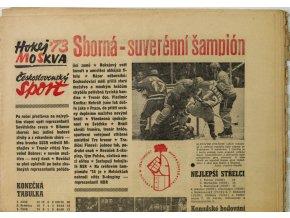 Noviny Československý sport, Sborná suverénní šampión, 1973