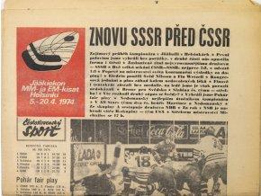 Noviny Československý sport, Znovu SSSR před ČSSR, 1974