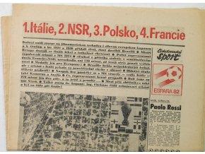 Noviny Československý sport, Espana 1982