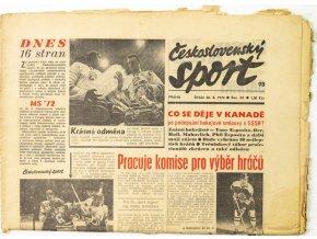 Noviny Československý sport, Speciál 16. stran MS 1972