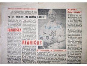 Zpravodaj , Slavia Praha IPS, věnování Plánička, květen 1979