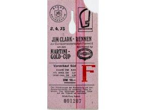 Vstupenka MS FormellII. Jim Clark rennen, 1973
