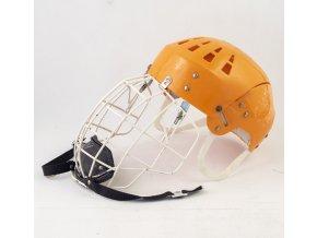 Hokejová přilba SALVO s krytem, oranžová (2)