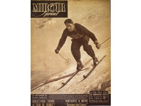 Noviny Le Miroir print, 1948, Chamonix, James Couttet