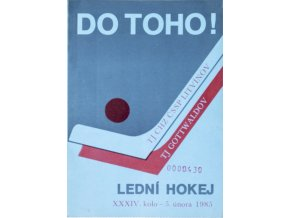 Program hokej, DO TOHO!, Litvínov v. TJ Gottwaldow, 1985
