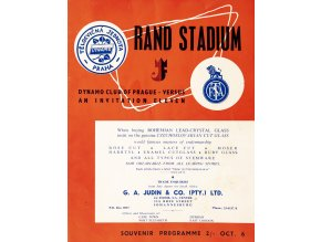 Program Dynamo club of Prague v. An Invitation Eleven, autogramy, 1956 (1)