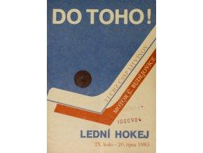 Program hokej, DO TOHO!, Litvínov v. Motor Č. Budějovice, 1985