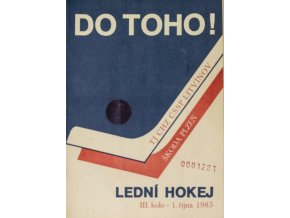 Program hokej, DO TOHO!, Litvínov v. Motor Škoda Plzeň, 1985