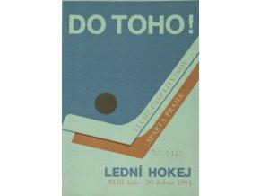 Program hokej, DO TOHO!, Litvínov v.Slovan Bratislava, 1984 II