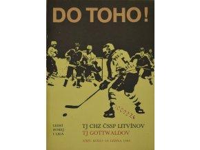 Program hokej, DO TOHO!, Litvínov v. TJ Gottwaldow, 1986
