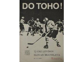 Program hokej, DO TOHO!, Litvínov v. Slovan Bratislava, 1988