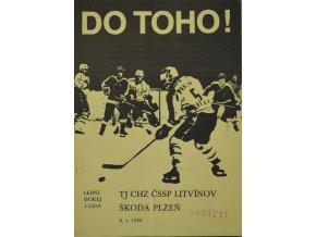 Program hokej, DO TOHO!, Litvínov v.Škoda Plzeň 1988