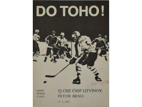 Program hokej, DO TOHO!, Litvínov v. Zetor Brno, 1988